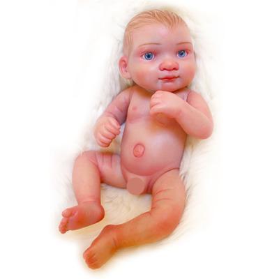 Luna: Tantalizing Eyes Full Body MIni Silicone Baby Girl - Kiss Reborn