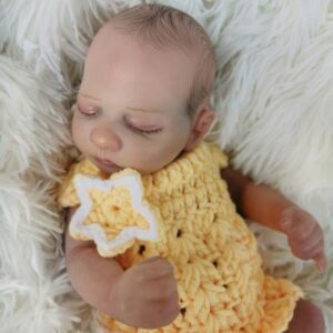 Christian: Premium Material Closed Eyes Reborn Baby Doll Boy - Kiss Reborn