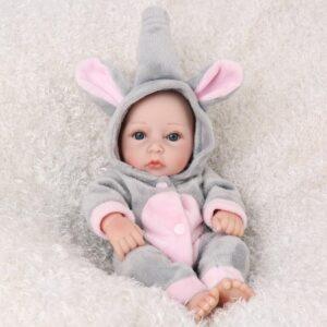 "10"" Elephant Suit Newborn Baby Oliver - Kiss Reborn"