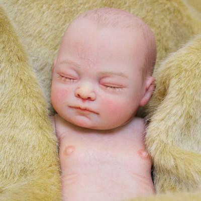 Casey: 26 cm Hand Painted Full Body Silicone Newborn Baby Girl Doll - Kiss Reborn