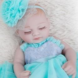 "Judy: 11"" Sweet Dreams Mini Toddler Baby Doll Girl - Kiss Reborn"