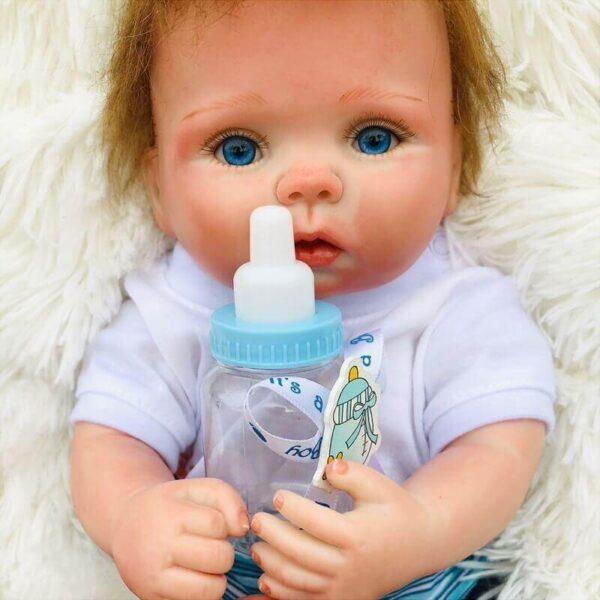 """Emmett: 15"""" Sapphire Blue Eyes Destiny Reborn Baby Doll Boy - Kiss Reborn"""
