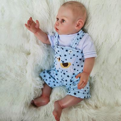 Charles: Big Starry Hazel New Born Baby Boy Doll - Kiss Reborn