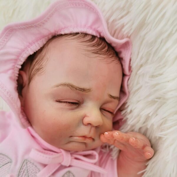 "Paula: 18"" Well-born Charming Sleeping Baby Doll Girl - Kiss Reborn"