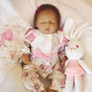Dabria: Best Price Closed Eyes Angel Baby Doll Girl - Kiss Reborn