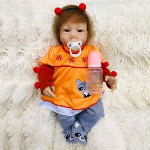 Eddie: Chubby Face Toddler Baby Doll - Kiss Reborn