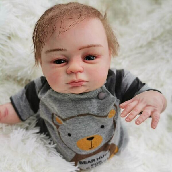 Enoch: Brown Eyes Reborn Real Baby Doll Boy - Kiss Reborn