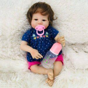 Farrah: Brown Eyes Cuddle Baby Toddler Girl - Kiss Reborn