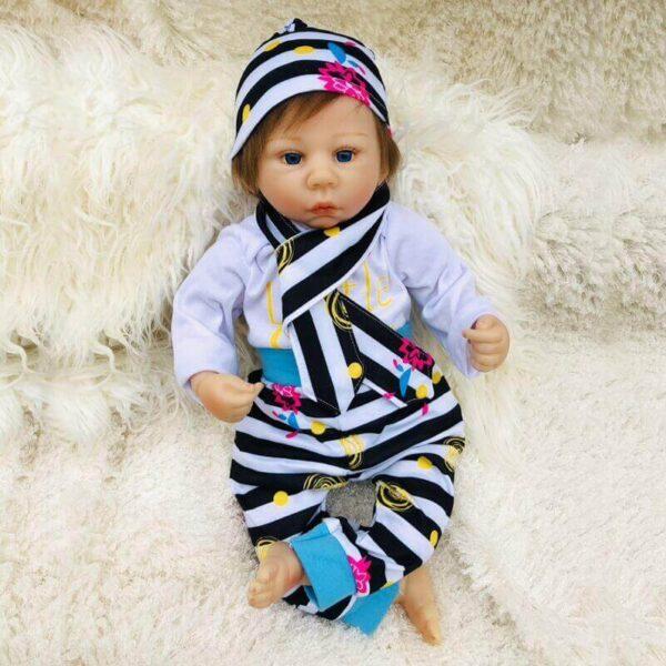 "Kelly: 18"" New Born Look Mixed Race Baby Doll Girl - Kiss Reborn"