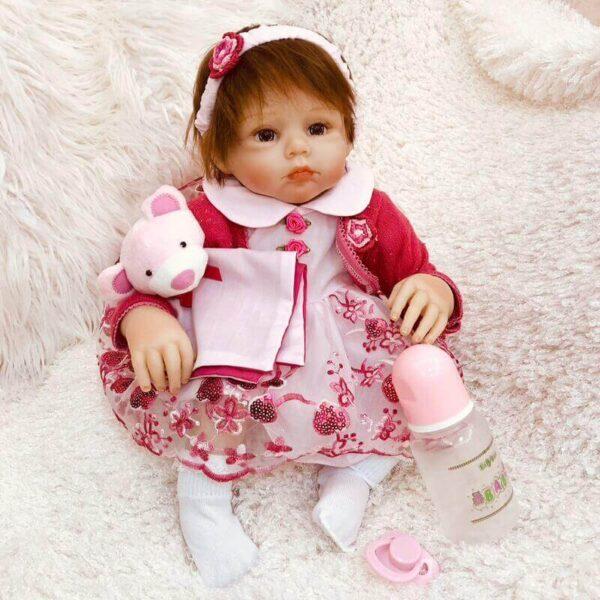 20 Inches Lovely Baby Girl Doll Natasha - Kiss Reborn