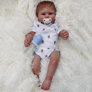 Sam: Prettiest Blue Eyes Baby Doll Boy from Heaven - Kiss Reborn