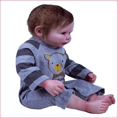 Carl: Amazing Realistic Full Silicone Reborn Baby Doll Boy - Kiss Reborn