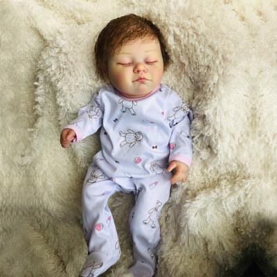 Mandy: Cute Lifelike Sleeping Baby Doll Girl - Kiss Reborn