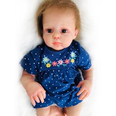 Louise: 20 Inch Realistic Sweet Reborn Toddler Girl Doll - Kiss Reborn