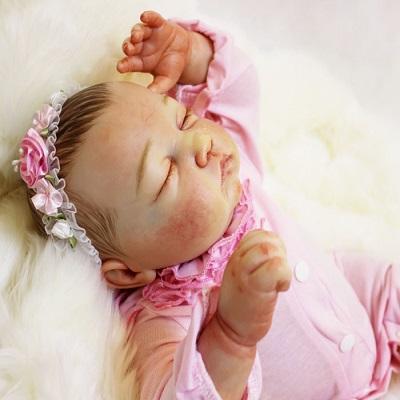 Tina: 1.18 KG New Arrival Realistic Feel Newborn Baby Doll Girl - Kiss Reborn
