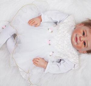 Mary: Real Skin Feel Baby Doll Girl - Kiss Reborn