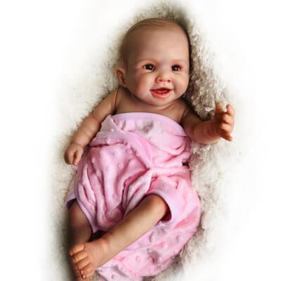 Armani: Cute Lips Black Eyes Baby Doll Girl - Kiss Reborn