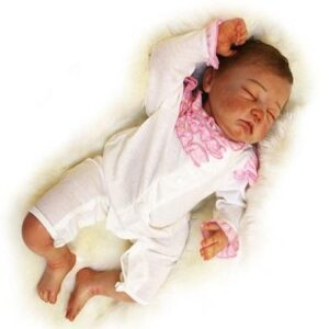 Mia: Soft Face Real Cuddle Baby Doll Girl - Kiss Reborn