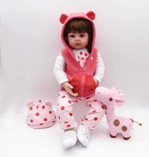 "19"" Bebes Reborn Toddler Girl Doll Merida - Kiss Reborn"