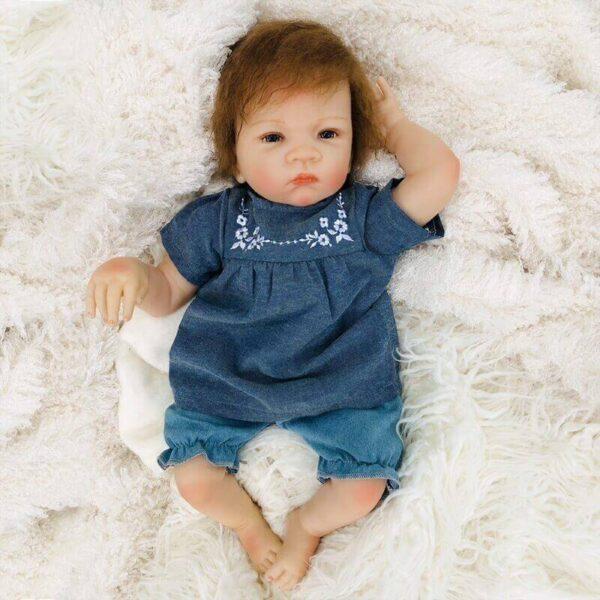 Faustine: Starry Realistic Mixed Race Reborn Child Boy - Kiss Reborn