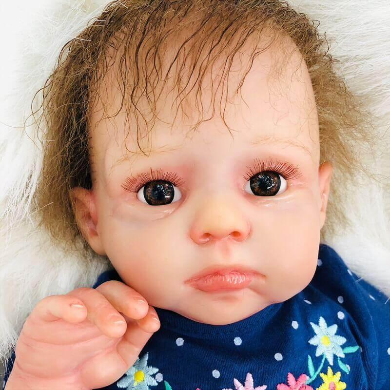 Idell: Partial Vinyl Perfect Realistic Reborn Baby Doll Boy - Kiss Reborn