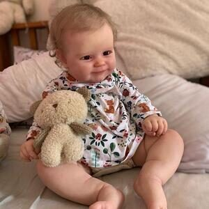 Gail: Full-vinyl Realistic Cuddle Reborn Baby Toddler Girl - Kiss Reborn