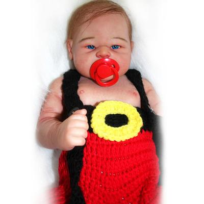 Michael: Well Made Realistic Blue Eyes Full Body Silicone Baby Doll Boy - Kiss Reborn