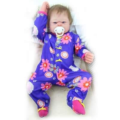 Eden: Blue Eyes Lifelike Open Mouth Reborn Toddler Baby Girl - Kiss Reborn