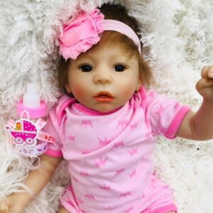 Fawziya: Realistic-looking Cuddle Inexpensive Open Mouth Baby Doll Girl - Kiss Reborn