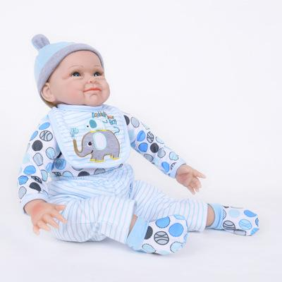 "Felix: 22"" Real-like Sparkling Blue Eyes Baby Boy - Kiss Reborn"
