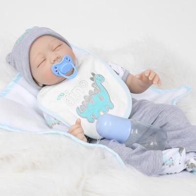 "Ed: 22"" Rosy Cheeks Sleeping Reborn Baby Doll Boy - Kiss Reborn"