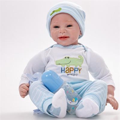 Drew: Soft Full Vinyl Sweet Reborn Baby Doll Boy - Kiss Reborn