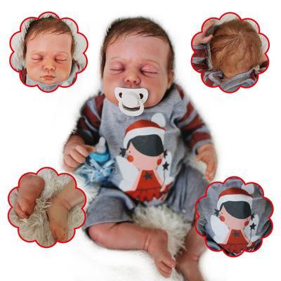 Daniel: Curled up Sleeping Real Baby Feel Doll Boy - Kiss Reborn