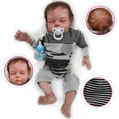 "Christ: 22"" Newborn Look Sleeping Reborn Baby Doll Boy - Kiss Reborn"