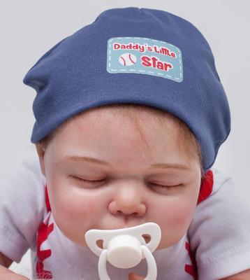 "Jaxon: 22"" High-quality Tiny Feet Collectible Sleeping Real Baby Doll Boy - Kiss Reborn"