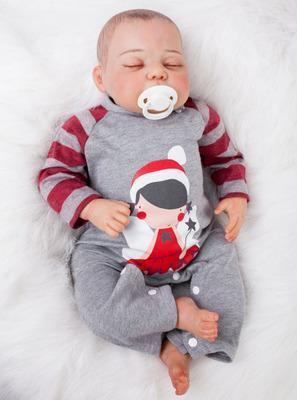 Don: Precious Closed Eyes Reborn Baby Doll Boy - Kiss Reborn