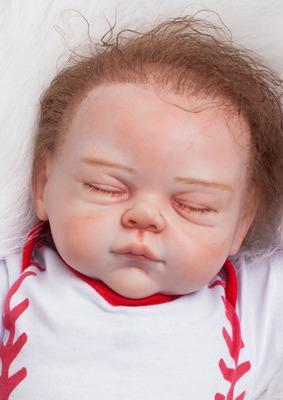 "Sean: 22"" Hand-made Perfect Life-like Sleeping Baby Boy Doll - Kiss Reborn"