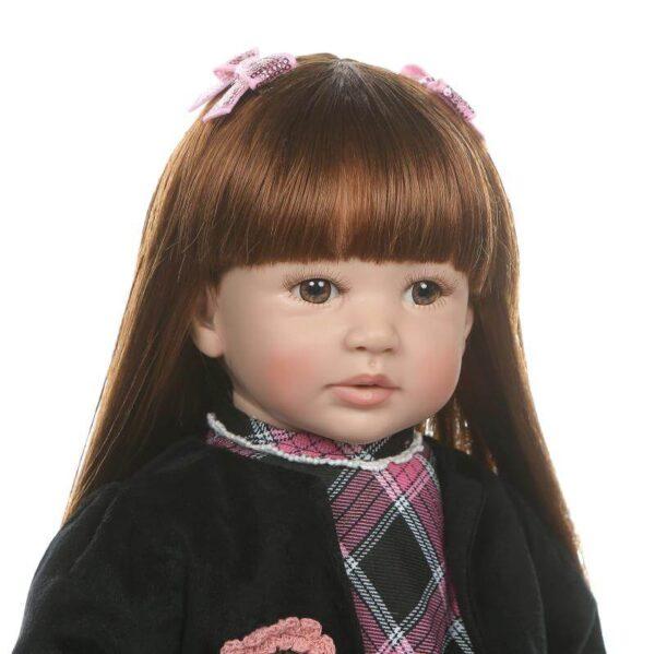 Adorable Lifelike Toddler Girl Doll Jasmine - Kiss Reborn