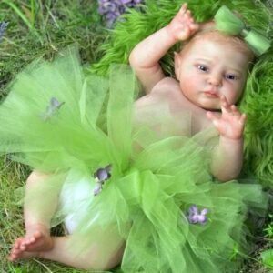 Elf Doris: Real Newborn Look Full Vinyl Reborn Baby Doll Girl for Adoption - Kiss Reborn