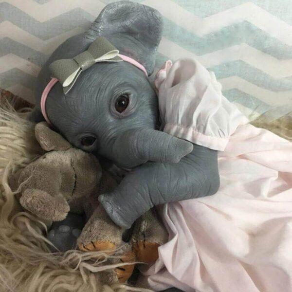 "22"" Female Elephant Reborn Doll Gaia - Kiss Reborn"