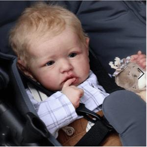 Payn: Big Blue Eyes Realistic Bouncy Baby Doll Boy - Kiss Reborn
