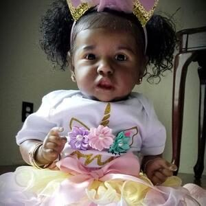 Echo: Pretty Real Like Collectible Black Baby Doll Girl - Kiss Reborn