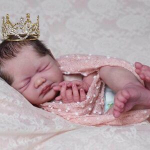 """Sleeping Prince Tony: 22"""" Blushed Face Reborn Baby Boy with a Crown - Kiss Reborn"""