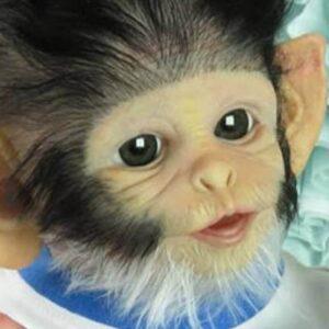 Cheeky Monkey Alexander II Baby Doll - Kiss Reborn