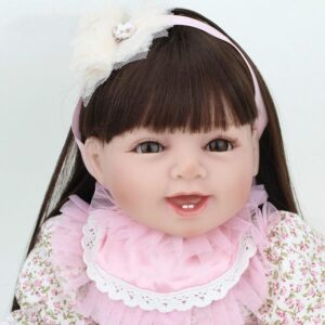 Olivia - 22'' Charming Realistic Reborn Baby Girl Little Princess NPK Doll - Kiss Reborn