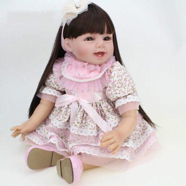 55cm wearing skirt realistic reborn baby olivia 3