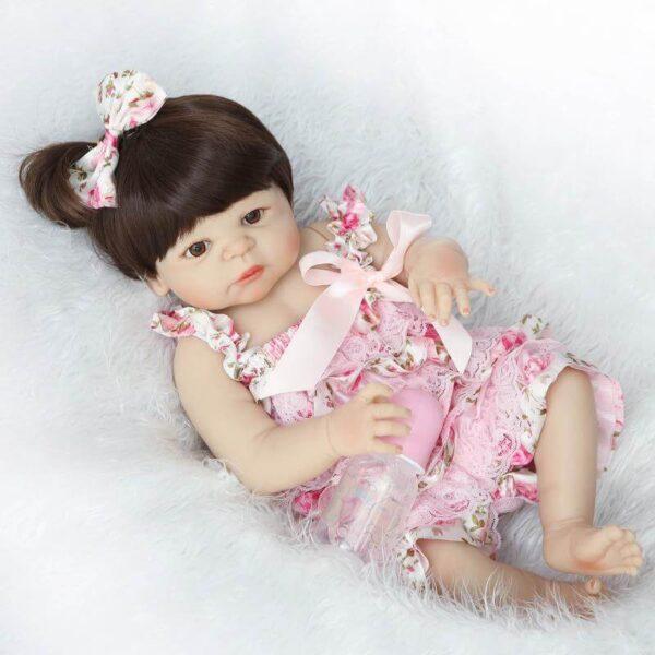 Short Hair Real Life Full Body Silicone Baby Girl Grace - Kiss Reborn