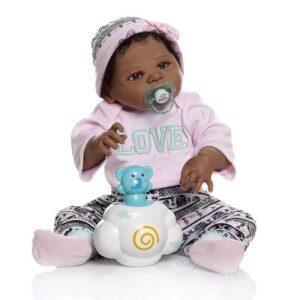 Gia: Inter-racial Cute Little Girl African American Baby Doll - Kiss Reborn