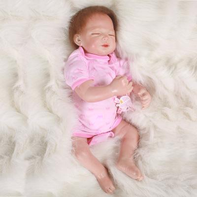 Asher: Closed Eyes Real Baby Look Baby Doll - Kiss Reborn
