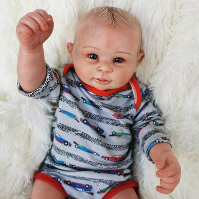 "Bancroft: 20"" Cheerful Newborn Naive Baby Doll Boy - Kiss Reborn"